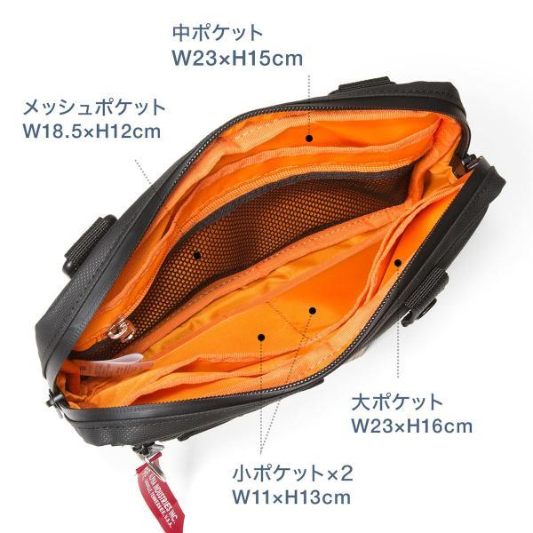 サコッシュ メンズ 2wayバッグ ショルダー バッグ 簡易防水 耐水 斜めがけ 肩掛け 軽量 薄型 ALPHA アルファ ショルダーバッグ(即納)|sanwadirect|09