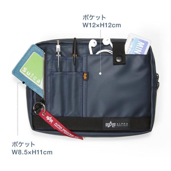 サコッシュ メンズ 2wayバッグ ショルダー バッグ 簡易防水 耐水 斜めがけ 肩掛け 軽量 薄型 ALPHA アルファ ショルダーバッグ(即納)|sanwadirect|10