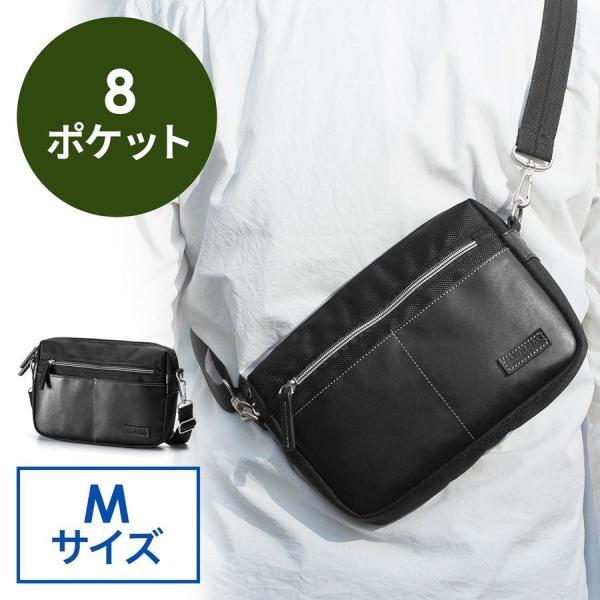 ショルダーバッグ メンズ バッグ 斜めがけ 小さめ カジュアル サコッシュ ショルダーバック(即納)|sanwadirect