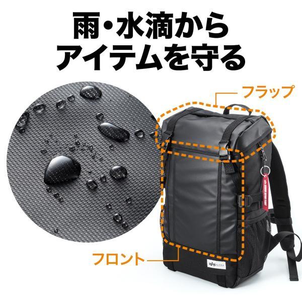 リュック サック スクエアリュック メンズ ALPHA 防水 ビジネス バッグパック アウトドアバックパック バッグ(即納)|sanwadirect|04