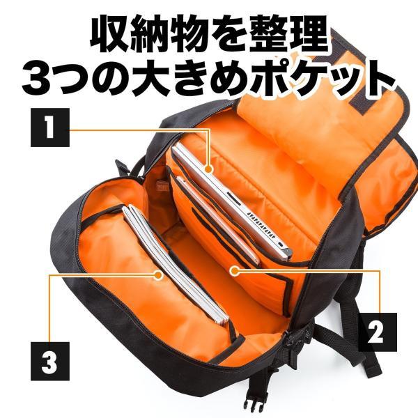 リュック サック スクエアリュック メンズ ALPHA 防水 ビジネス バッグパック アウトドアバックパック バッグ(即納)|sanwadirect|05