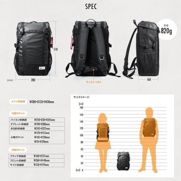 リュック サック スクエアリュック メンズ ALPHA 防水 ビジネス バッグパック アウトドアバックパック バッグ(即納)|sanwadirect|07