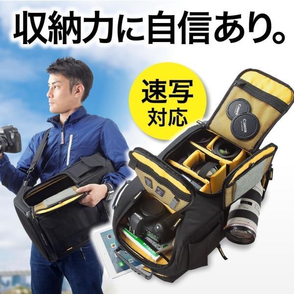 カメラバッグ 一眼レフ カメラリュック 収納 リュック PC対応(即納) sanwadirect
