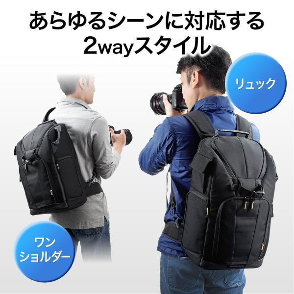 カメラバッグ 一眼レフ カメラリュック 収納 リュック PC対応(即納) sanwadirect 02