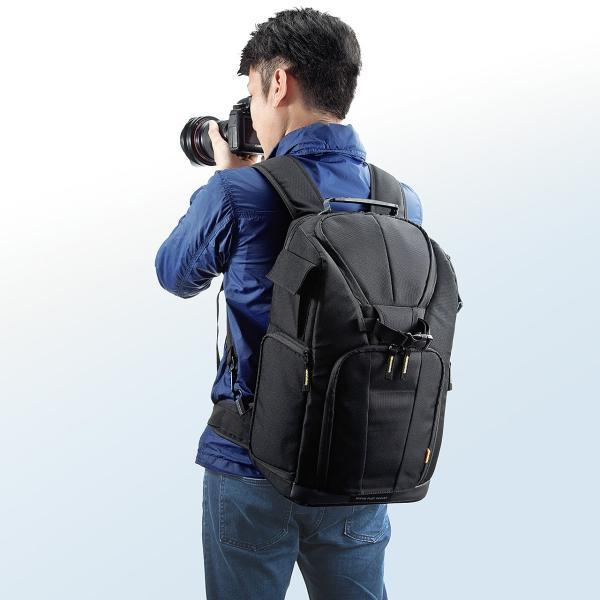 カメラバッグ 一眼レフ カメラリュック 収納 リュック PC対応(即納) sanwadirect 16