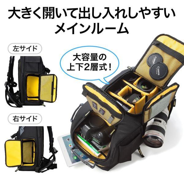 カメラバッグ 一眼レフ カメラリュック 収納 リュック PC対応(即納) sanwadirect 03