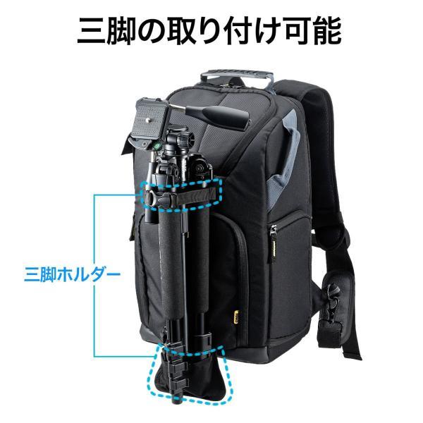 カメラバッグ 一眼レフ カメラリュック 収納 リュック PC対応(即納) sanwadirect 05