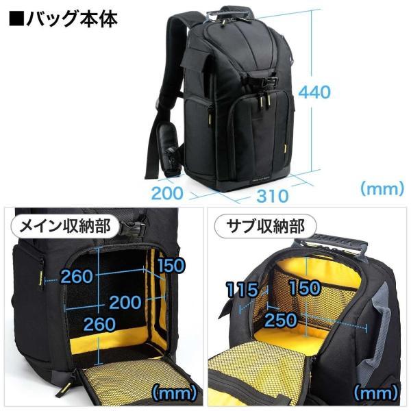 カメラバッグ 一眼レフ カメラリュック 収納 リュック PC対応(即納) sanwadirect 06