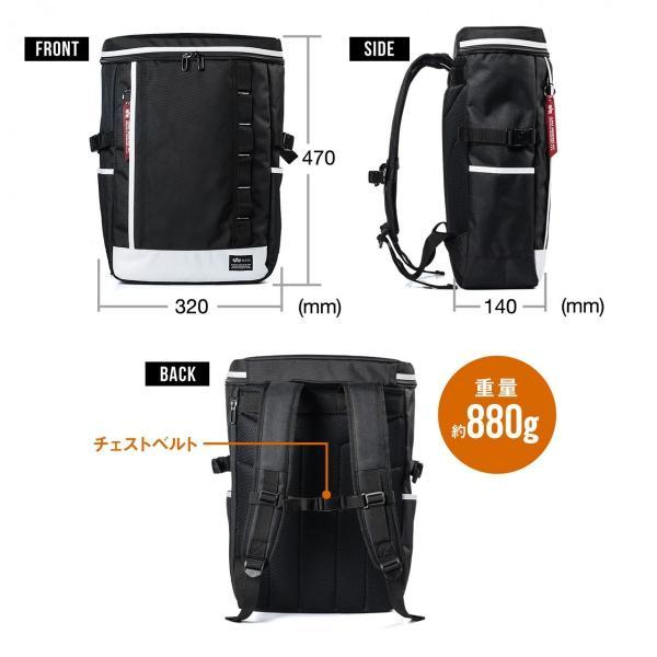 リュック スクエアリュック メンズ リュックサック 大容量 ALPHA アウトドアバックパック バッグ PC対応 sanwadirect 18
