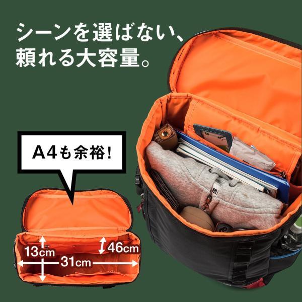 リュック スクエアリュック メンズ リュックサック 大容量 ALPHA アウトドアバックパック バッグ PC対応 sanwadirect 03