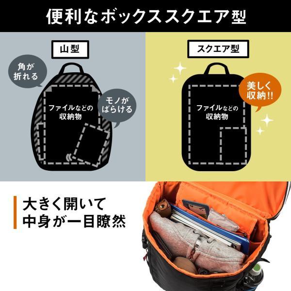 リュック スクエアリュック メンズ リュックサック 大容量 ALPHA アウトドアバックパック バッグ PC対応 sanwadirect 07