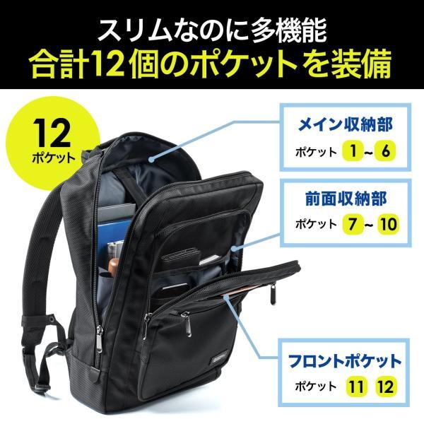 bdb4b2aa05c0 ... ビジネスリュック メンズ リュック 薄型 ビジネスバッグ 撥水 簡易防水 軽量 大容量 リュックサック ...