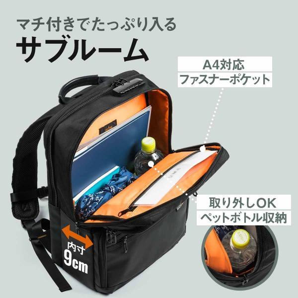 ビジネスリュック リュック リュック サック スクエアリュック メンズ ALPHA 防水 軽量 PC対応(即納)|sanwadirect|08