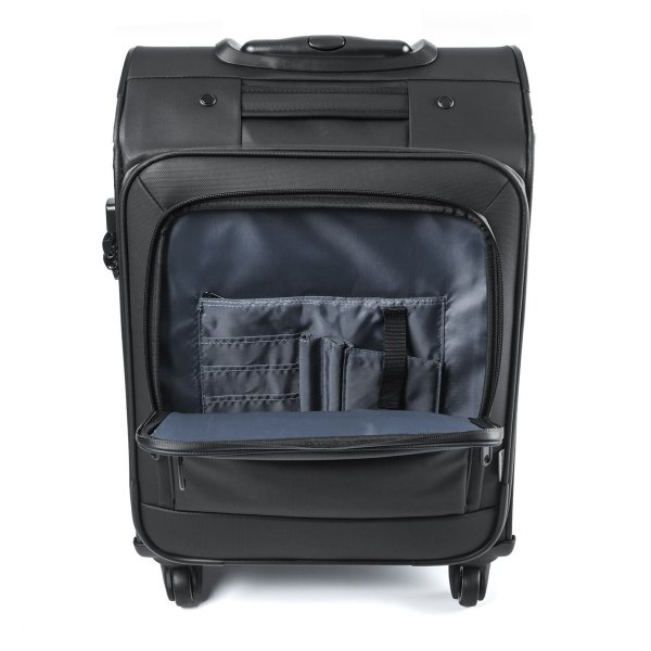 キャリーバッグ 簡易防水 耐水 メンズ パソコンバッグ ビジネス 機内持ち込み スーツケース縦型(即納)|sanwadirect|11