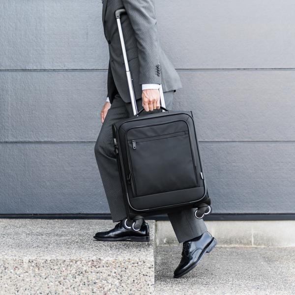 キャリーバッグ 簡易防水 耐水 メンズ パソコンバッグ ビジネス 機内持ち込み スーツケース縦型(即納)|sanwadirect|13