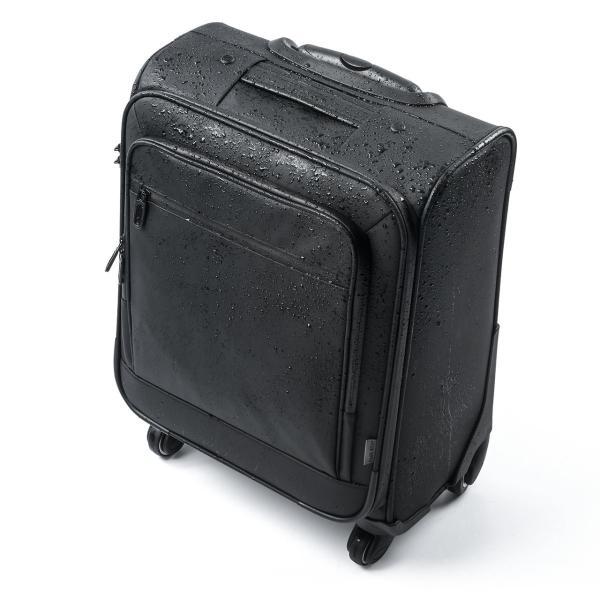 キャリーバッグ 簡易防水 耐水 メンズ パソコンバッグ ビジネス 機内持ち込み スーツケース縦型(即納)|sanwadirect|16