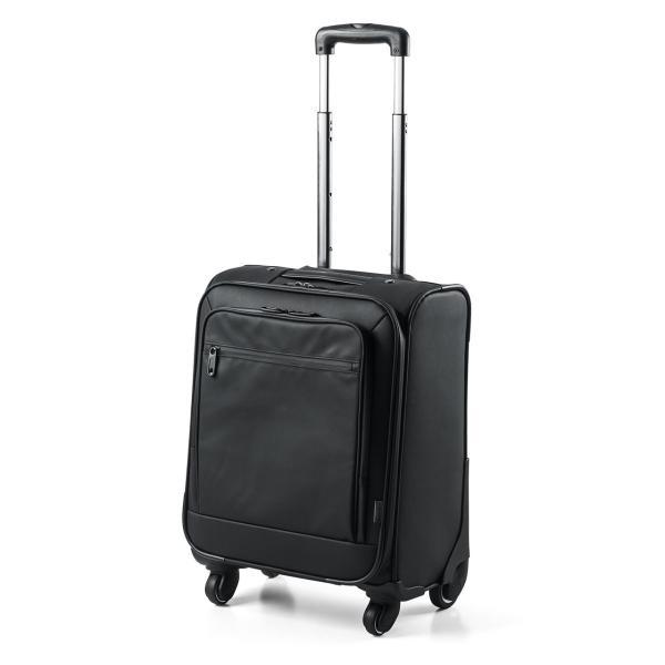 キャリーバッグ 簡易防水 耐水 メンズ パソコンバッグ ビジネス 機内持ち込み スーツケース縦型(即納)|sanwadirect|17