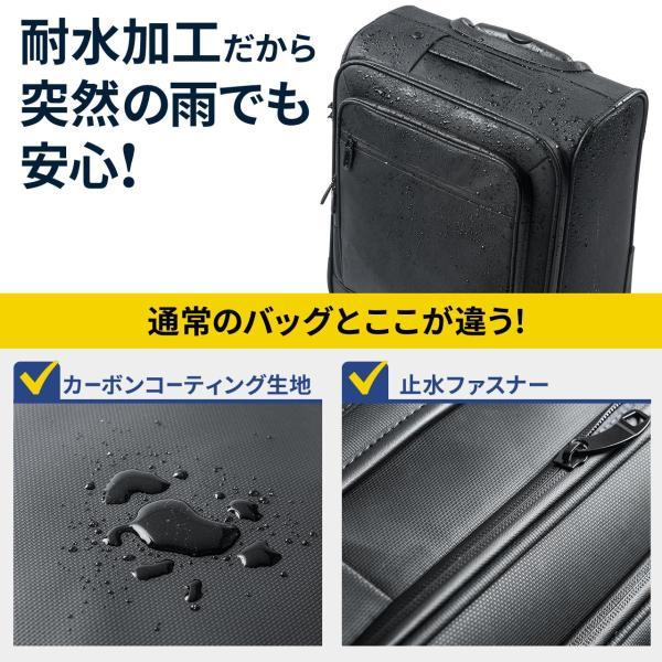 キャリーバッグ 簡易防水 耐水 メンズ パソコンバッグ ビジネス 機内持ち込み スーツケース縦型(即納)|sanwadirect|03