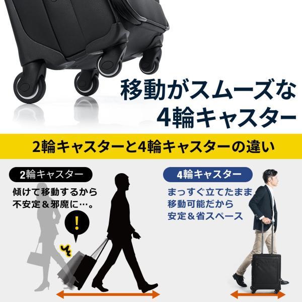 キャリーバッグ 簡易防水 耐水 メンズ パソコンバッグ ビジネス 機内持ち込み スーツケース縦型(即納)|sanwadirect|04
