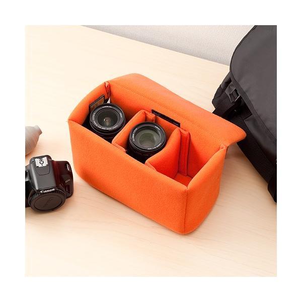 一眼レフ カメラ インナーバッグ カメラバッグ ミラーレス カメラケース|sanwadirect|11
