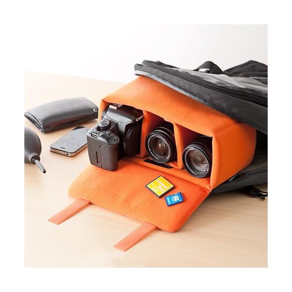 一眼レフ カメラ インナーバッグ カメラバッグ ミラーレス カメラケース|sanwadirect|12