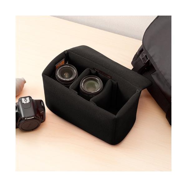 一眼レフ カメラ インナーバッグ カメラバッグ ミラーレス カメラケース|sanwadirect|18