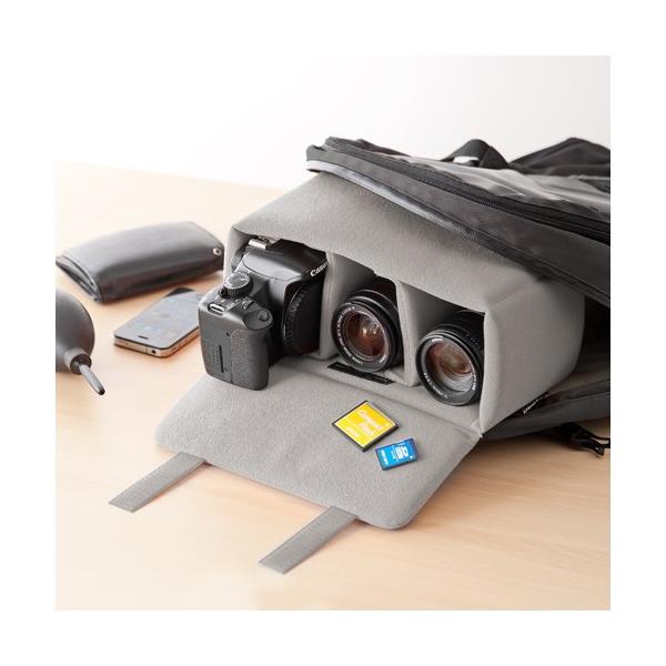 一眼レフ カメラ インナーバッグ カメラバッグ ミラーレス カメラケース|sanwadirect|19