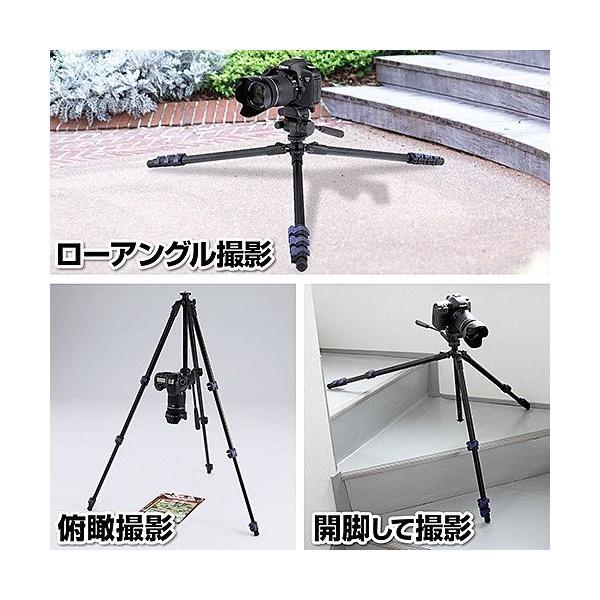 三脚 一眼レフ カメラ ビデオカメラ 150cm 三脚(即納) sanwadirect 06