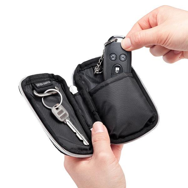 キーケース メンズ キーカバー スマートキー 鍵 収納 インテリジェント 車 カー用品 高耐久 おしゃれ コンパクト|sanwadirect|11