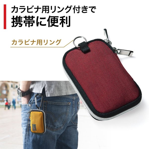 キーケース メンズ キーカバー スマートキー 鍵 収納 インテリジェント 車 カー用品 高耐久 おしゃれ コンパクト|sanwadirect|05