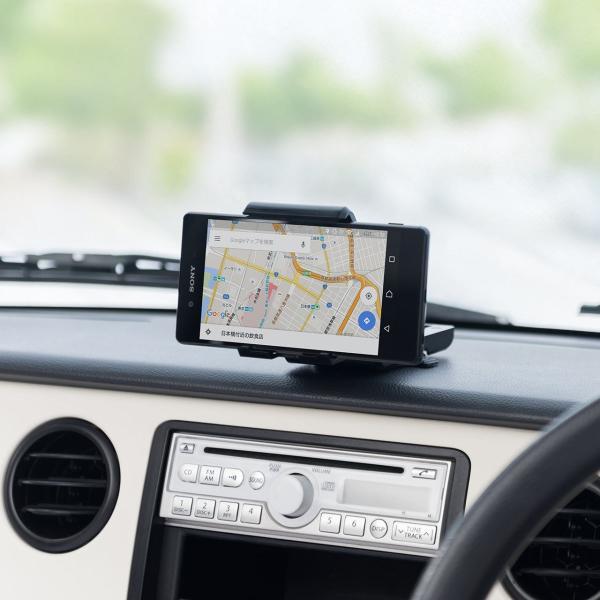 スマホホルダー 車載 スマホスタンド 車載ホルダー iPhone コンパクト 車 車載用品(即納)|sanwadirect|19