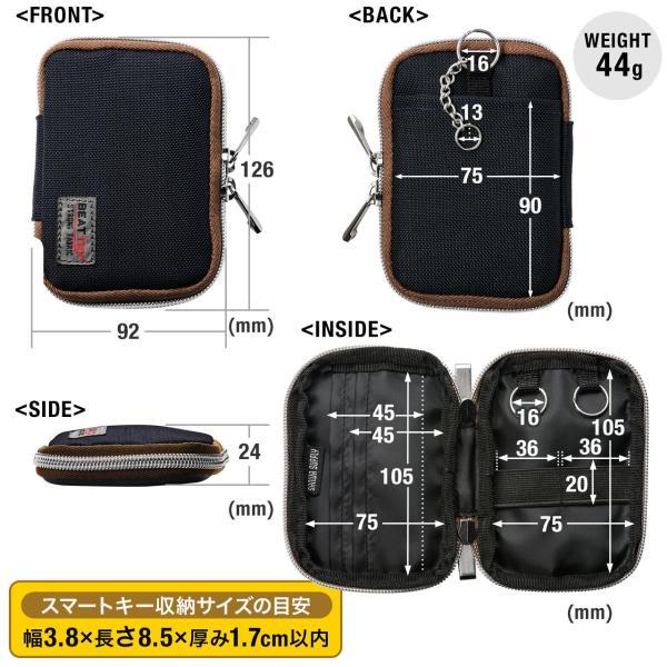 キーケース メンズ キーカバー スマートキー 鍵 収納 インテリジェント キーケース 2個 収納 車 カー用品 高耐久 おしゃれ コンパクト(即納)|sanwadirect|13