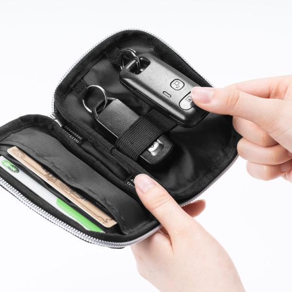 キーケース メンズ キーカバー スマートキー 鍵 収納 インテリジェント キーケース 2個 収納 車 カー用品 高耐久 おしゃれ コンパクト(即納)|sanwadirect|19