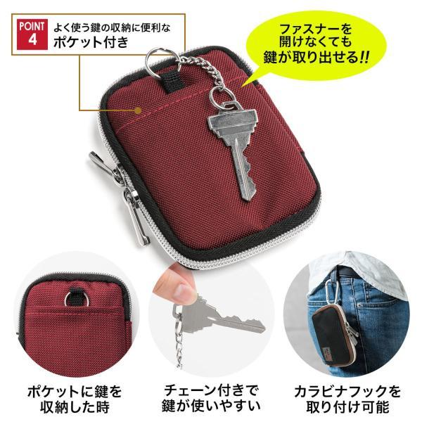 キーケース メンズ キーカバー スマートキー 鍵 収納 インテリジェント キーケース 2個 収納 車 カー用品 高耐久 おしゃれ コンパクト(即納)|sanwadirect|05