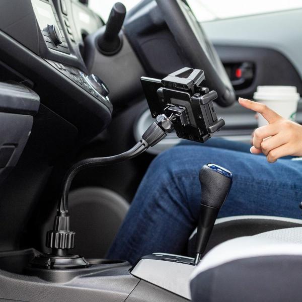 スマホホルダー 車載 スマホスタンド 車載ホルダー フレキシブルアーム ドリンクホルダー カップホルダー iPhone 車 車載用品(即納)|sanwadirect|17
