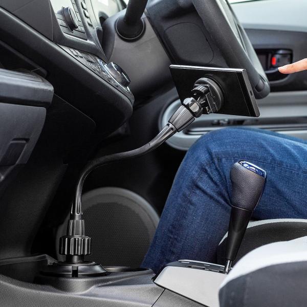 スマホホルダー 車載 マグネット着脱 スマホスタンド 車載ホルダー フレキシブルアーム ドリンクホルダー カップホルダー iPhone 車 車載用品(即納)|sanwadirect|12