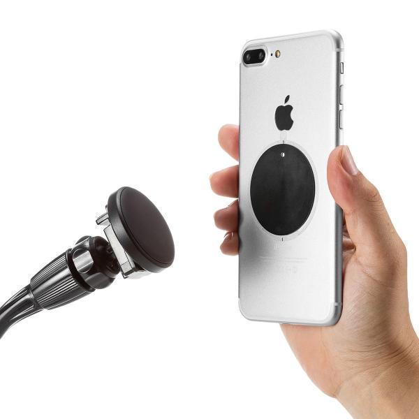 スマホホルダー 車載 マグネット着脱 スマホスタンド 車載ホルダー フレキシブルアーム ドリンクホルダー カップホルダー iPhone 車 車載用品(即納)|sanwadirect|13