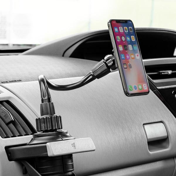 スマホホルダー 車載 マグネット着脱 スマホスタンド 車載ホルダー フレキシブルアーム ドリンクホルダー カップホルダー iPhone 車 車載用品(即納)|sanwadirect|14