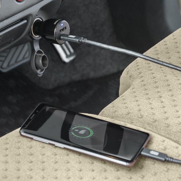 シガーソケット USB カーチャージャー 車載充電器 iPhone スマホ 2ポート 急速充電 2台同時 Power Delivery 18W対応 自動車 携帯 車 充電(即納)|sanwadirect|14