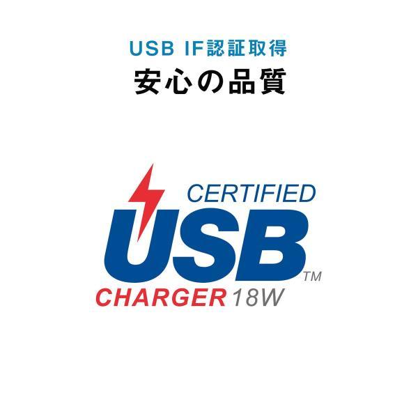 シガーソケット USB カーチャージャー 車載充電器 iPhone スマホ 2ポート 急速充電 2台同時 Power Delivery 18W対応 自動車 携帯 車 充電(即納)|sanwadirect|07