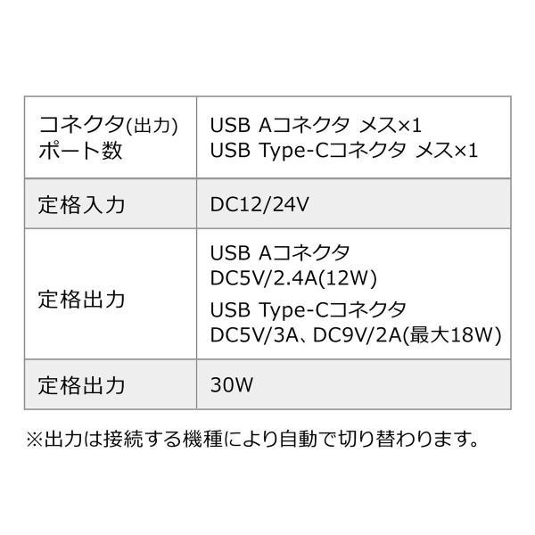 シガーソケット USB カーチャージャー 車載充電器 iPhone スマホ 2ポート 急速充電 2台同時 Power Delivery 18W対応 自動車 携帯 車 充電(即納)|sanwadirect|10