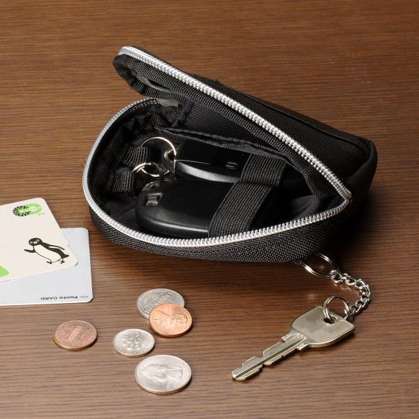 スマートキーケース キーケース 鍵 キー 2個収納 カード 収納 小銭入れ コインケース キーリング 2個 カラビナフック(即納)|sanwadirect|15