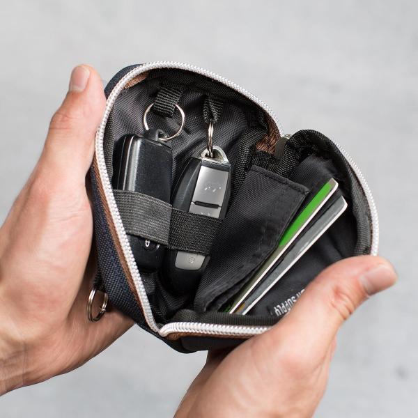 スマートキーケース キーケース 鍵 キー 2個収納 カード 収納 小銭入れ コインケース キーリング 2個 カラビナフック(即納)|sanwadirect|18