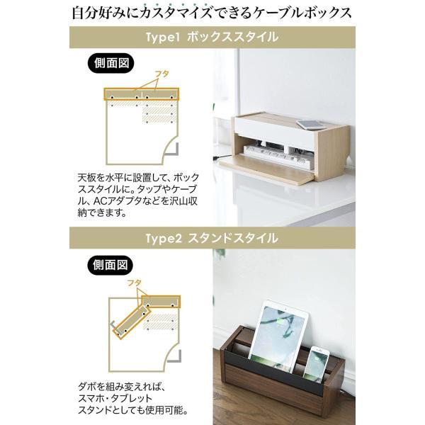ケーブル 収納 ケーブルボックス コンセント 充電スタンド(即納)|sanwadirect|02