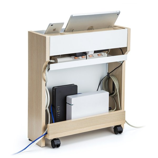 ケーブル 収納 ケーブルボックス ルーター 配線 コンセント コード 隠し 充電ステーション(即納)|sanwadirect|19