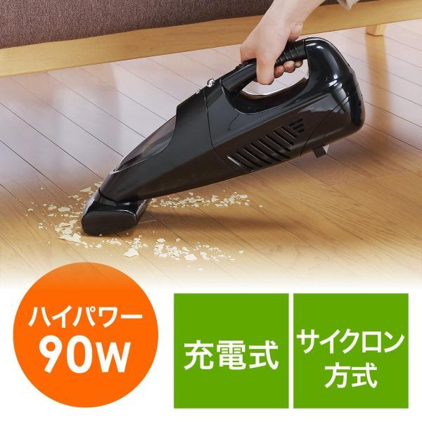 ハンディクリーナー 掃除機 車載用品 コードレス クリーナー 充電式 サイクロン掃除機 ハンド(即納)|sanwadirect|18