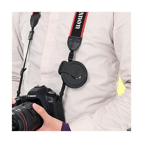 一眼レフ カメラ  レンズキャップ ホルダー 落下防止 紛失防止 クリップ(即納)|sanwadirect|08