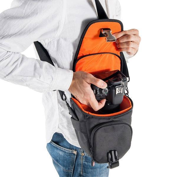 カメラバッグ 一眼レフ ショルダー 収納 速写対応(即納)|sanwadirect|12