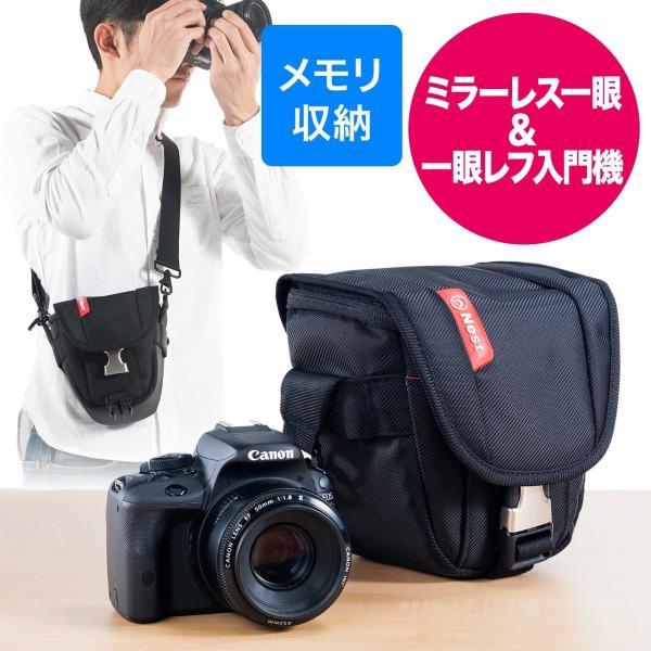 カメラバッグ 一眼レフ ショルダー 収納 速写対応(即納)|sanwadirect|14