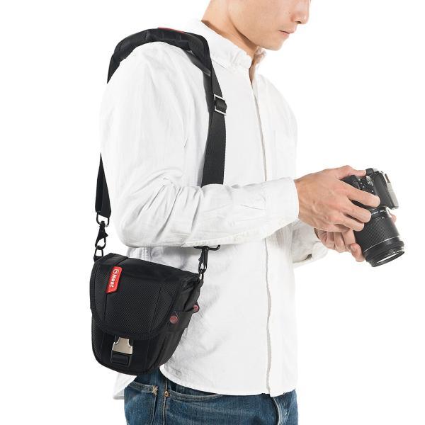 カメラバッグ 一眼レフ ショルダー 収納 速写対応(即納)|sanwadirect|05